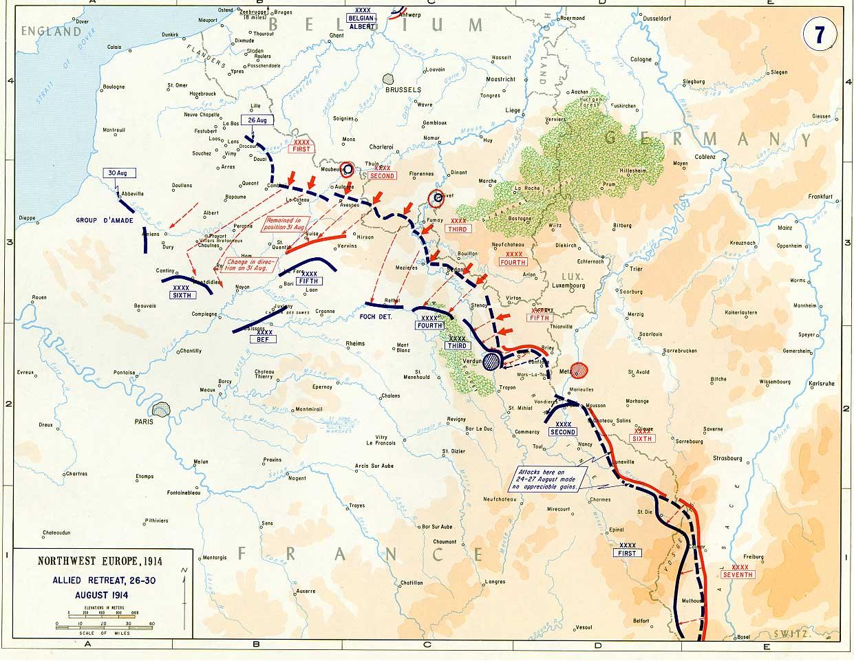 Allied Retreat in France