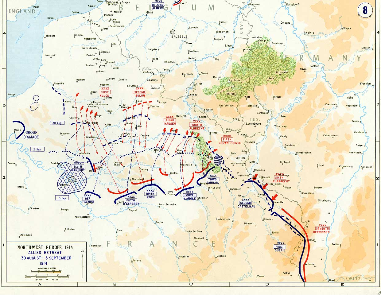 German Advance to the Marne 1914