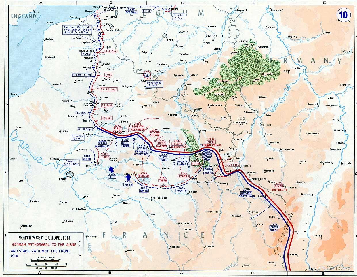 German retreat to the Aisne