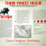 Their Finest Hour – Box art of the second Edition - Back