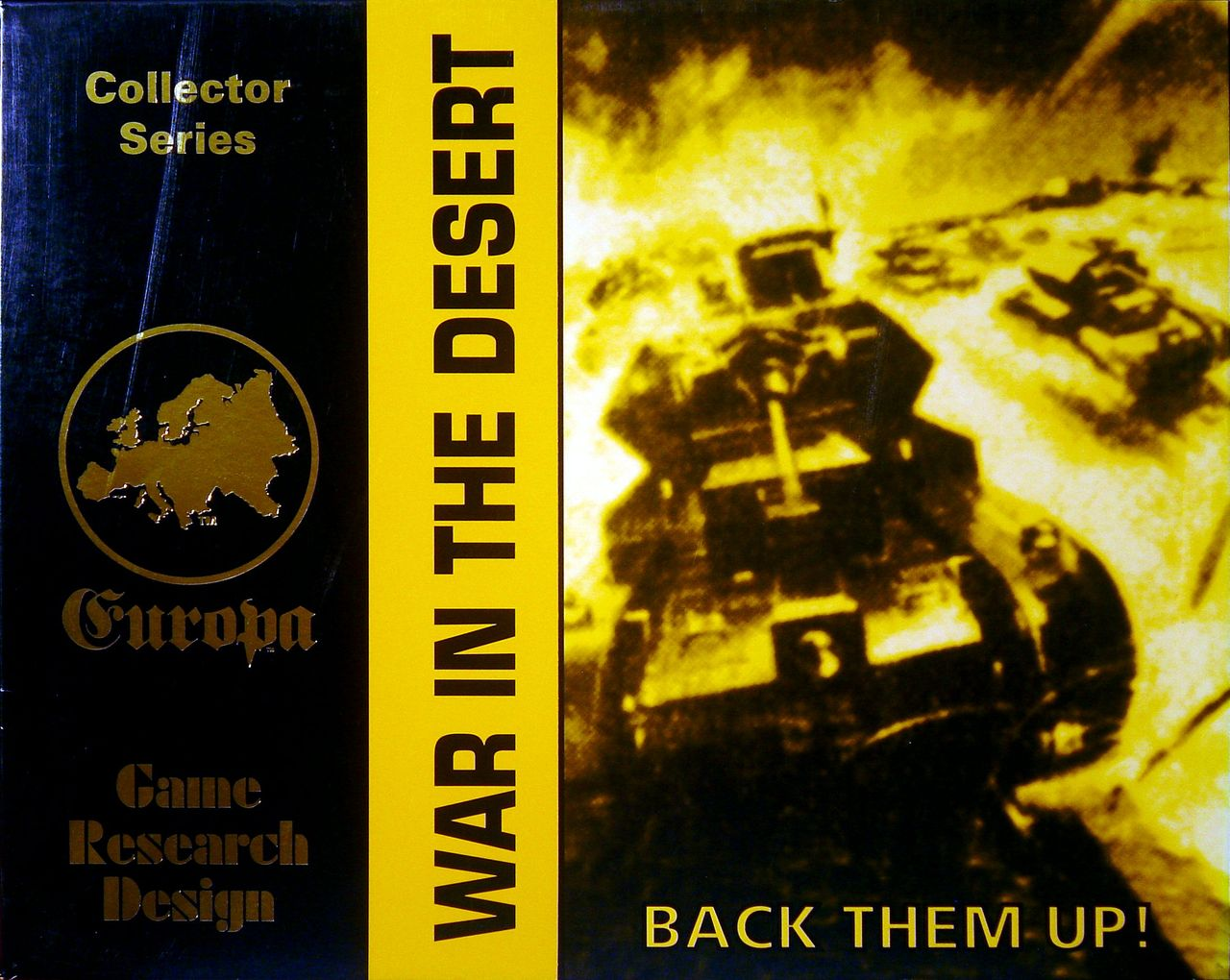 War in the Desert - Front cover