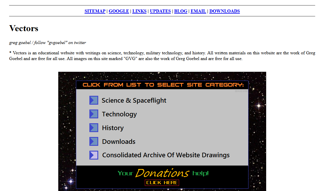 Screenshot of Vectorsite.net
