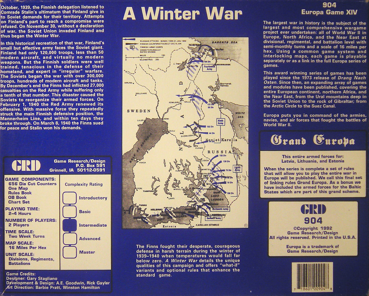 A Winter War - Box art
