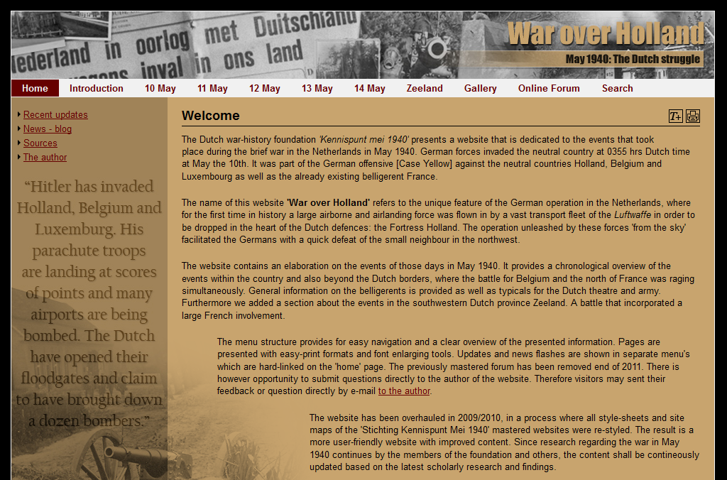 "Screenshot ""War over Holland"""