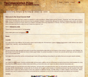 Screenshot of generalstab.org, 2008