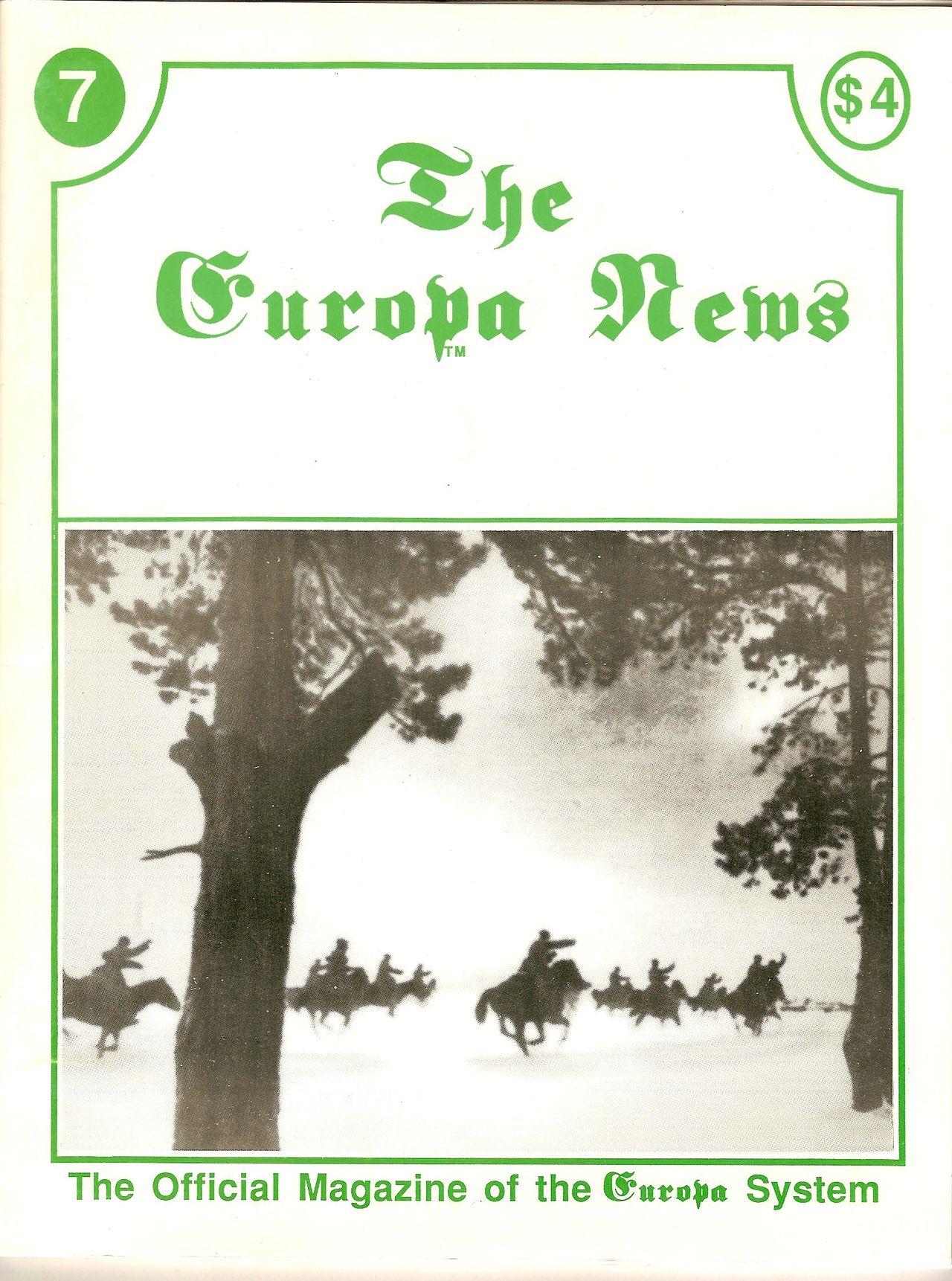 The Europa Magazine #7 - Cover