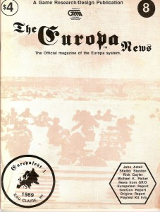 The Europa Magazine #8 - Cover
