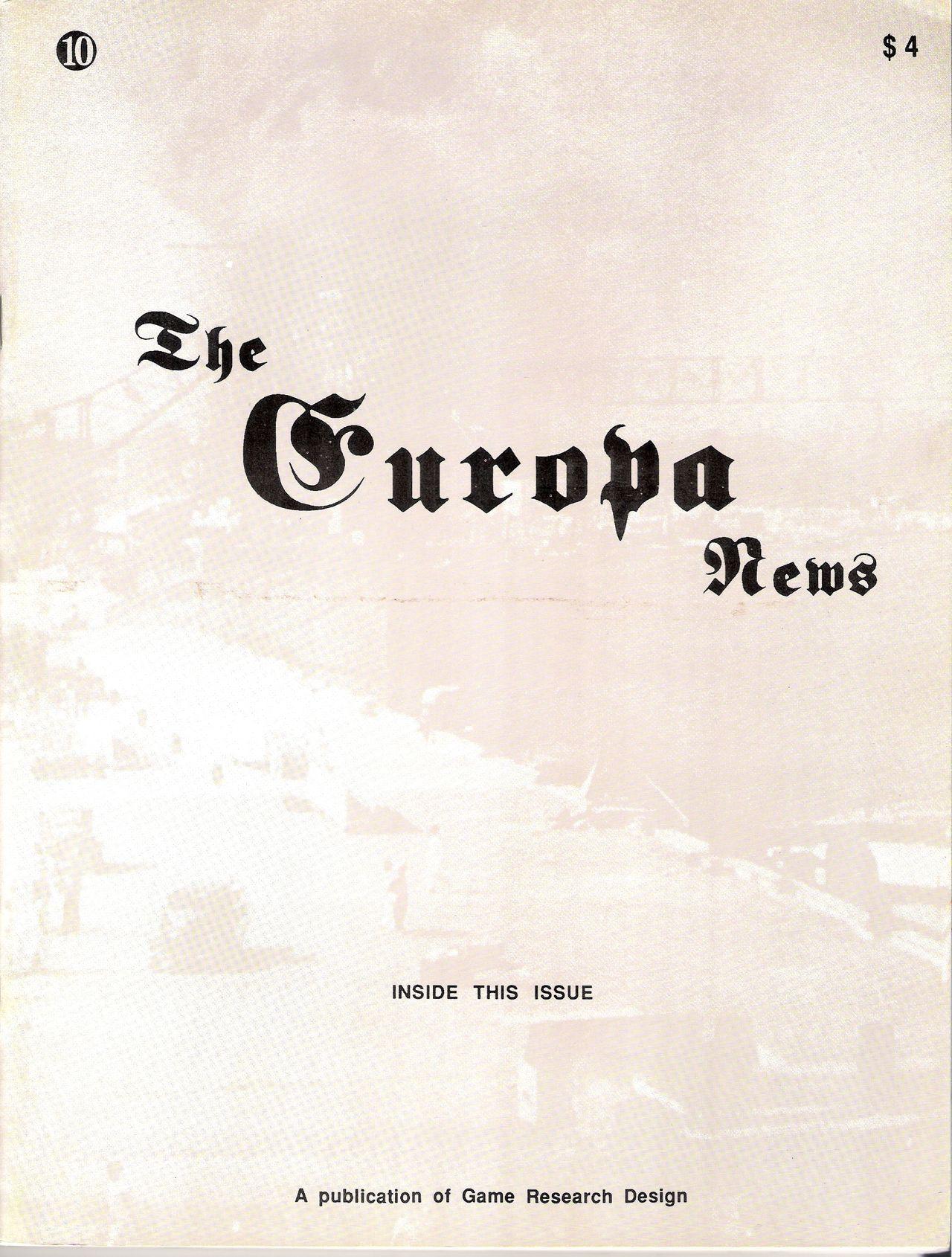The Europa Magazine #10 - Cover
