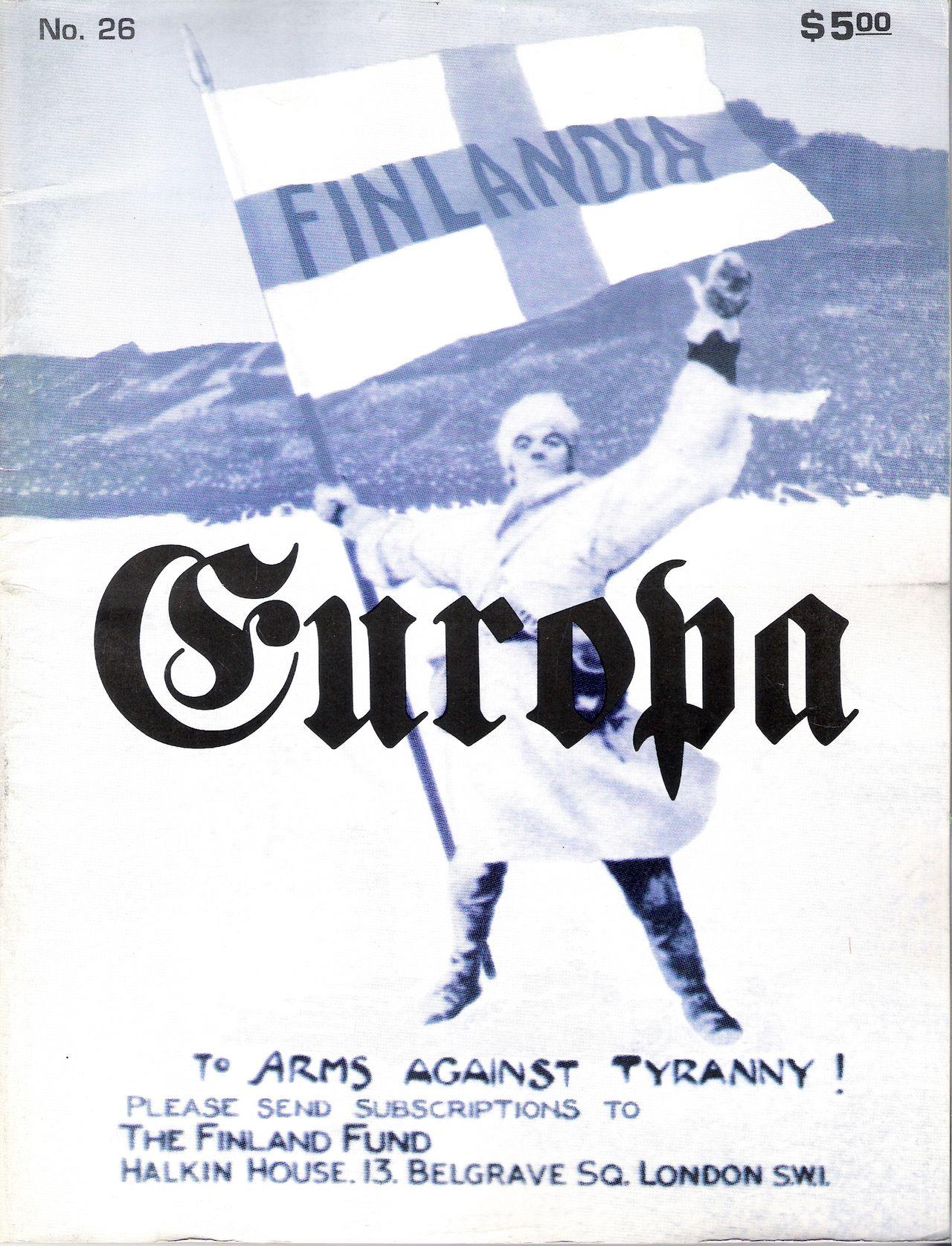 The Europa Magazine #26 - Cover