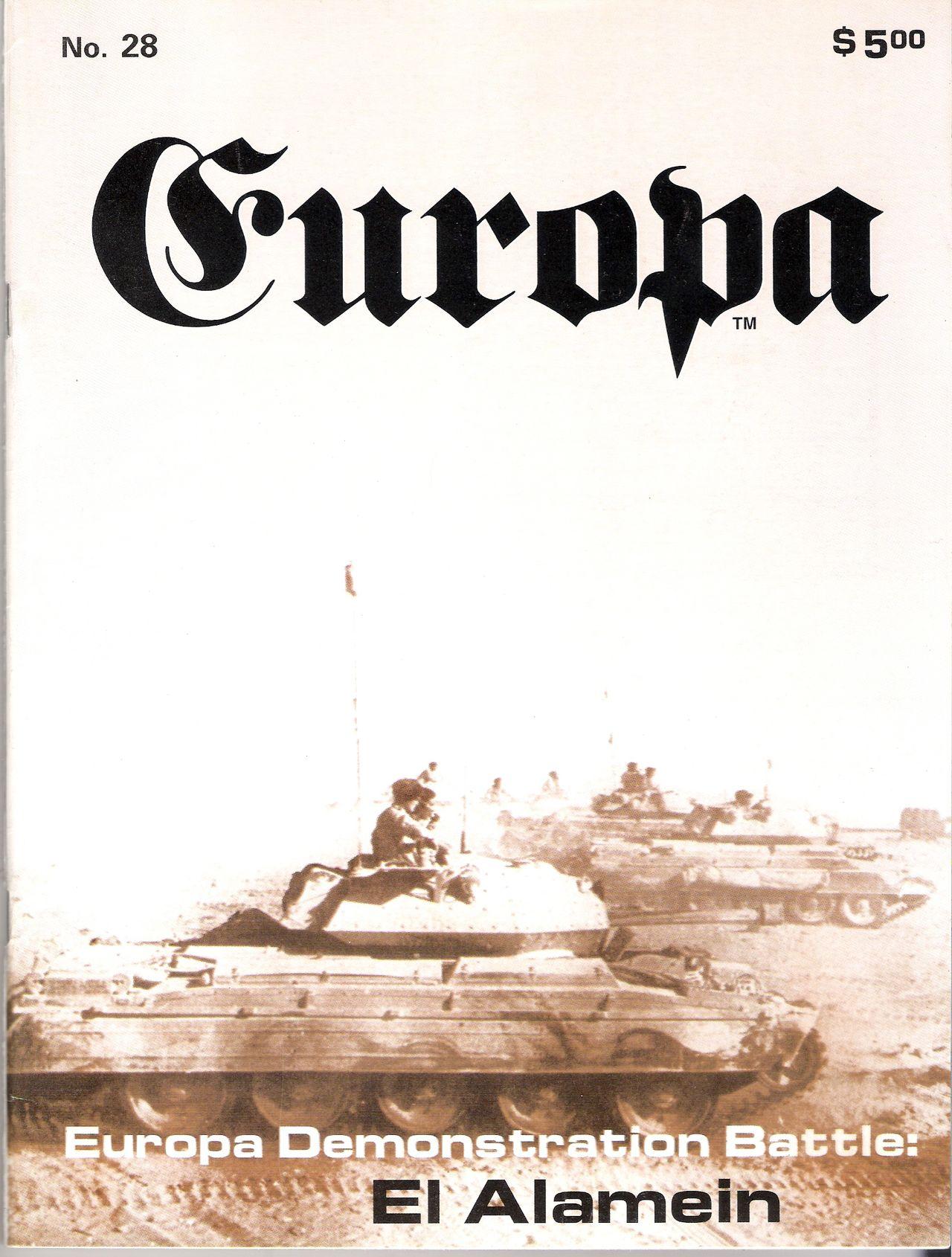 The Europa Magazine #28 - Cover