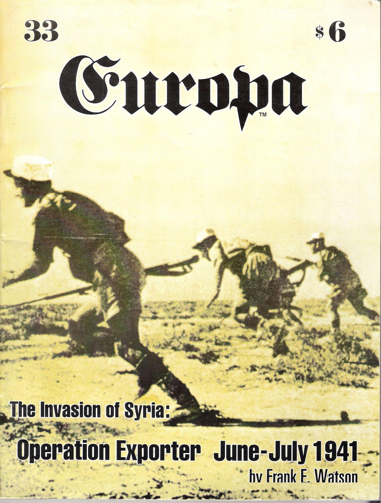 The Europa Magazine #33 - Cover