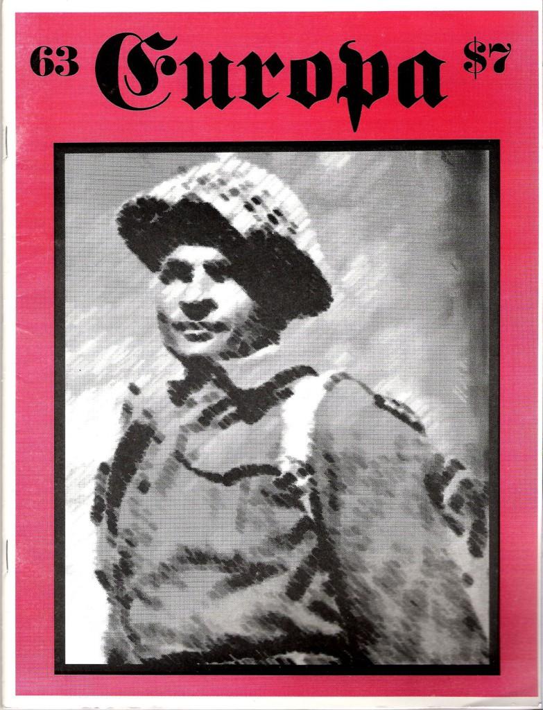 The Europa Magazine #63 - Cover