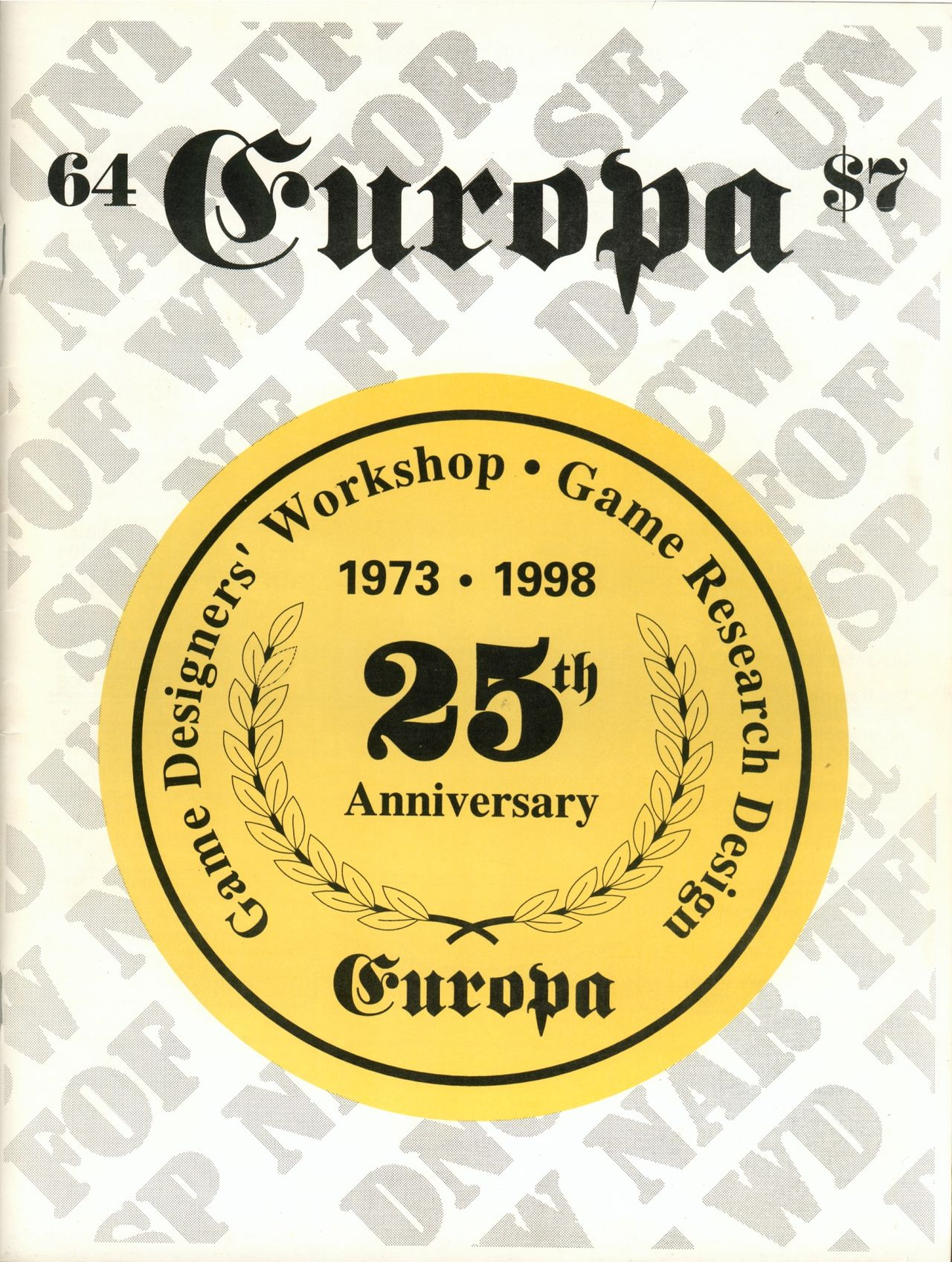 The Europa Magazine #64 - Cover