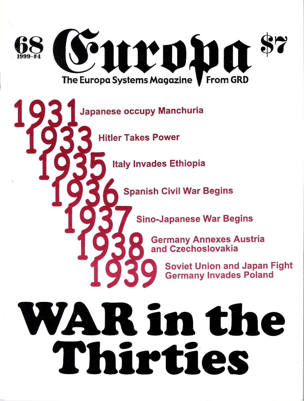 The Europa Magazine #68 - Cover