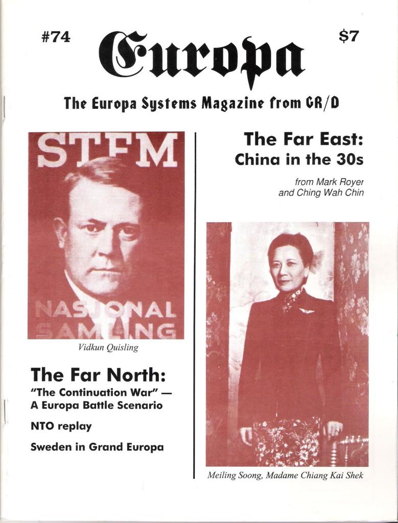 The Europa Magazine #74 - Cover