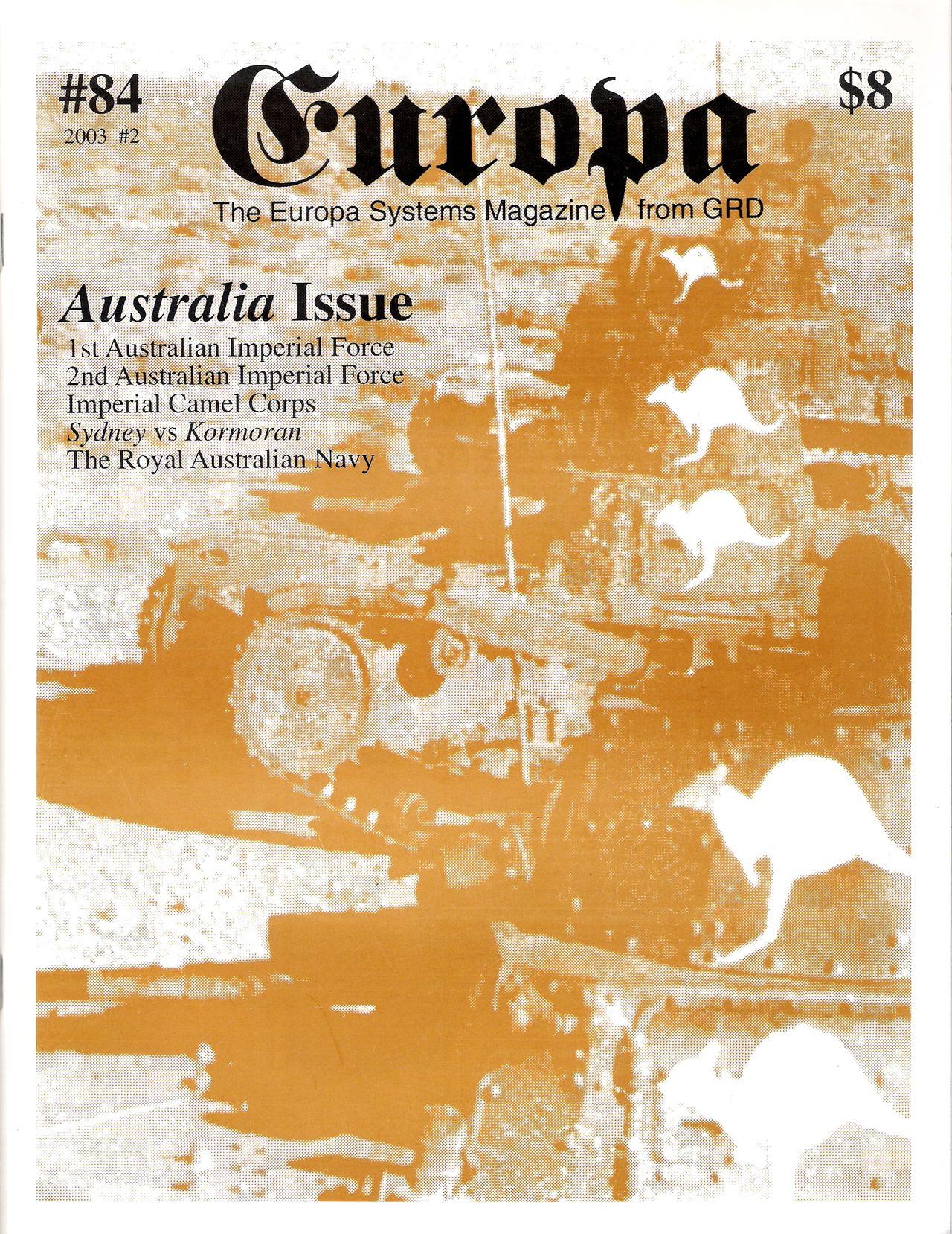 The Europa Magazine #84 - Cover