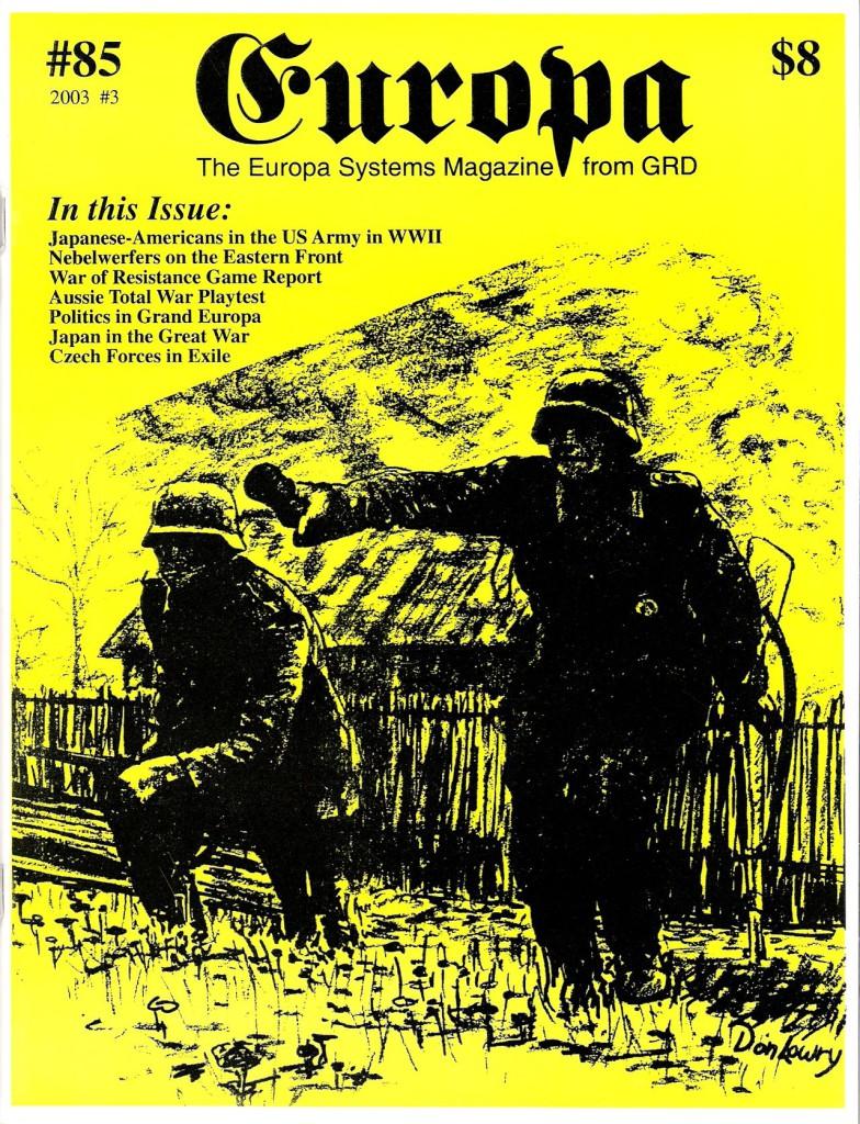 The Europa Magazine #85 - Cover