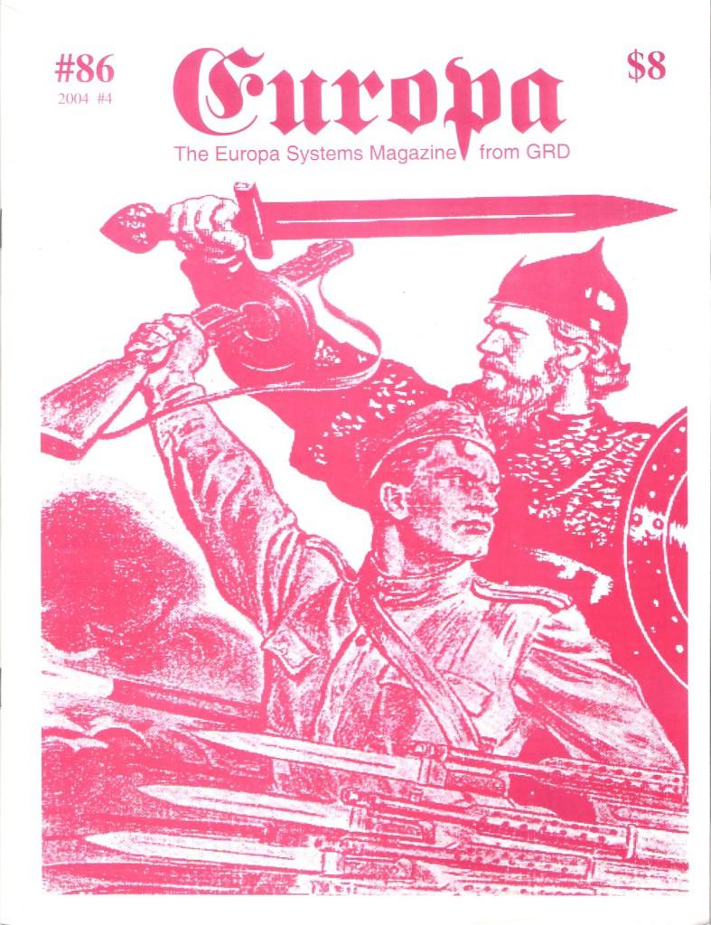 The Europa Magazine #86 - Cover