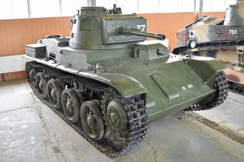 38M Toldi IIa 'H501' medium Hungarian tank in Kubinka Museum. Credit: Alan Wilson, 2012