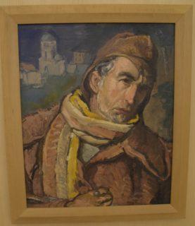 'Autorretrat vestit de millicia' c 1938 by Pere Daura I Garcia (1896-1976)