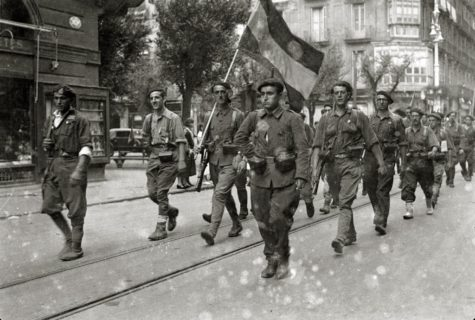 Nationalist Troops enterin San Sebastian, 1936