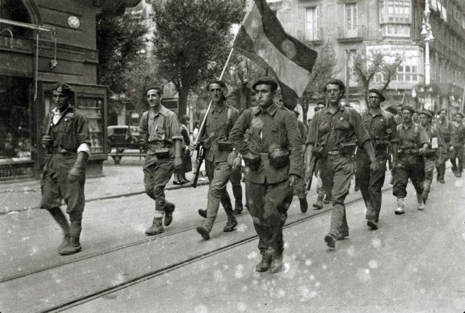 Nationalist Troops enterin San Sebastian, 1936