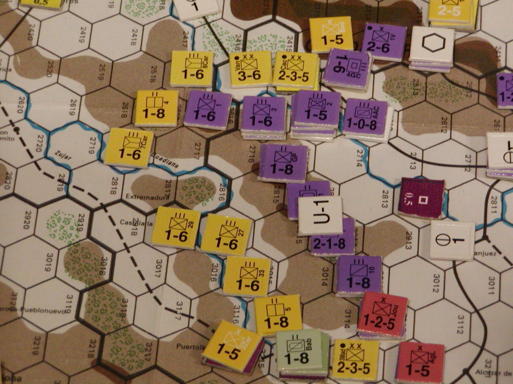 FWtBT No 4 - NOV II 36: Tactical view, the Republicans pull back their MLR on west flank