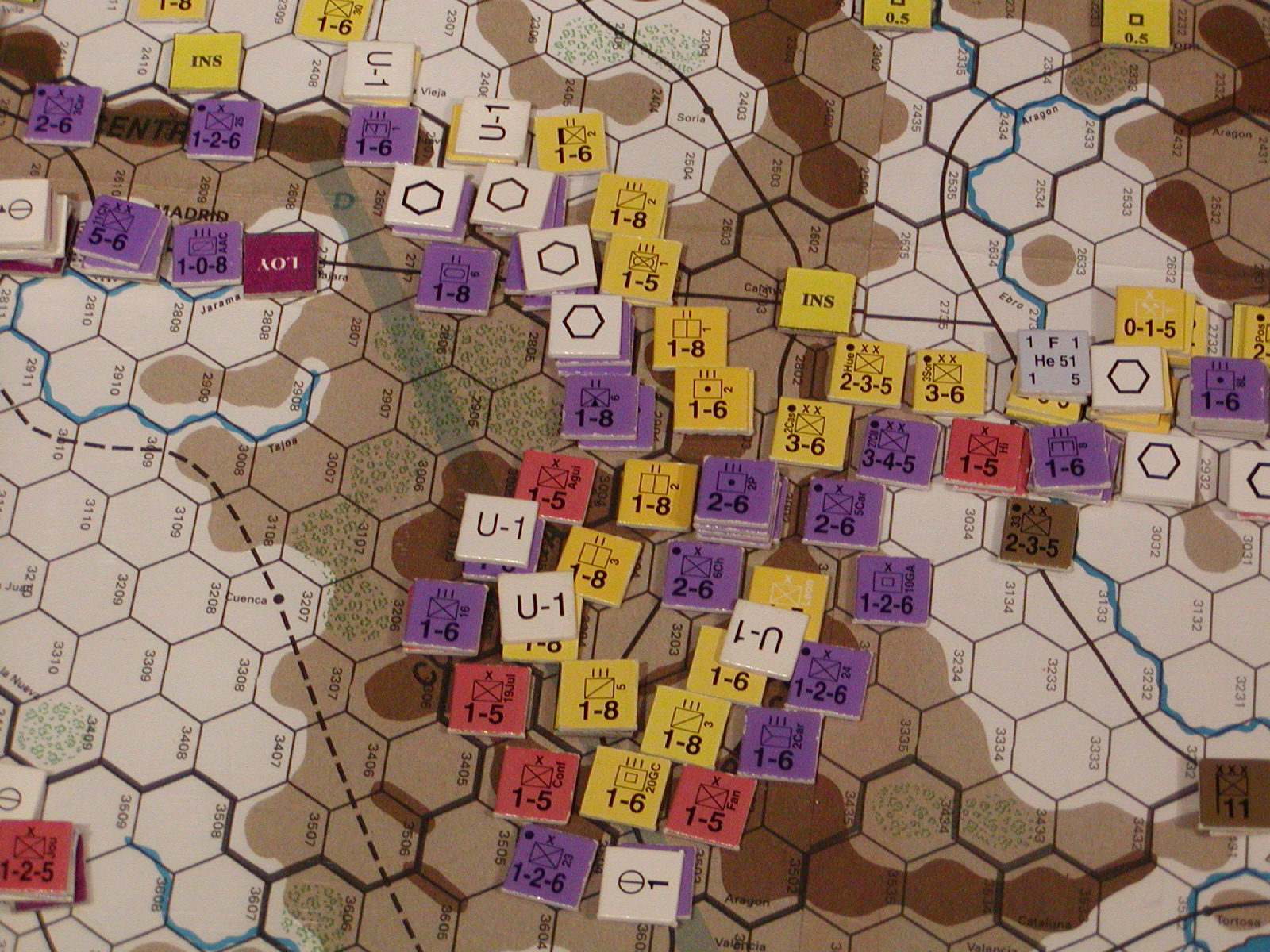 FWtBT No 4 - Jan II 37: Tactical view: Republic moves down the Jiloca valley.