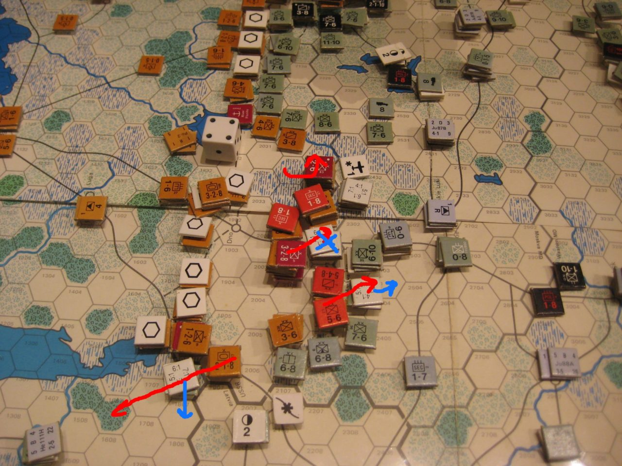 Feb II 42 Soviet Turn: Local counterattacks by the Soviets out of Leningrad