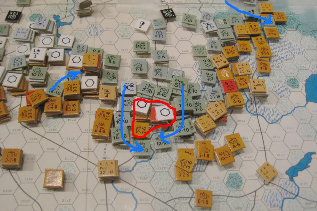 The Situation in the North: The Axis exploit gaps in the Soviet line.