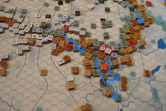 Advance units reach two of the objectives of Operation Meatgrinder