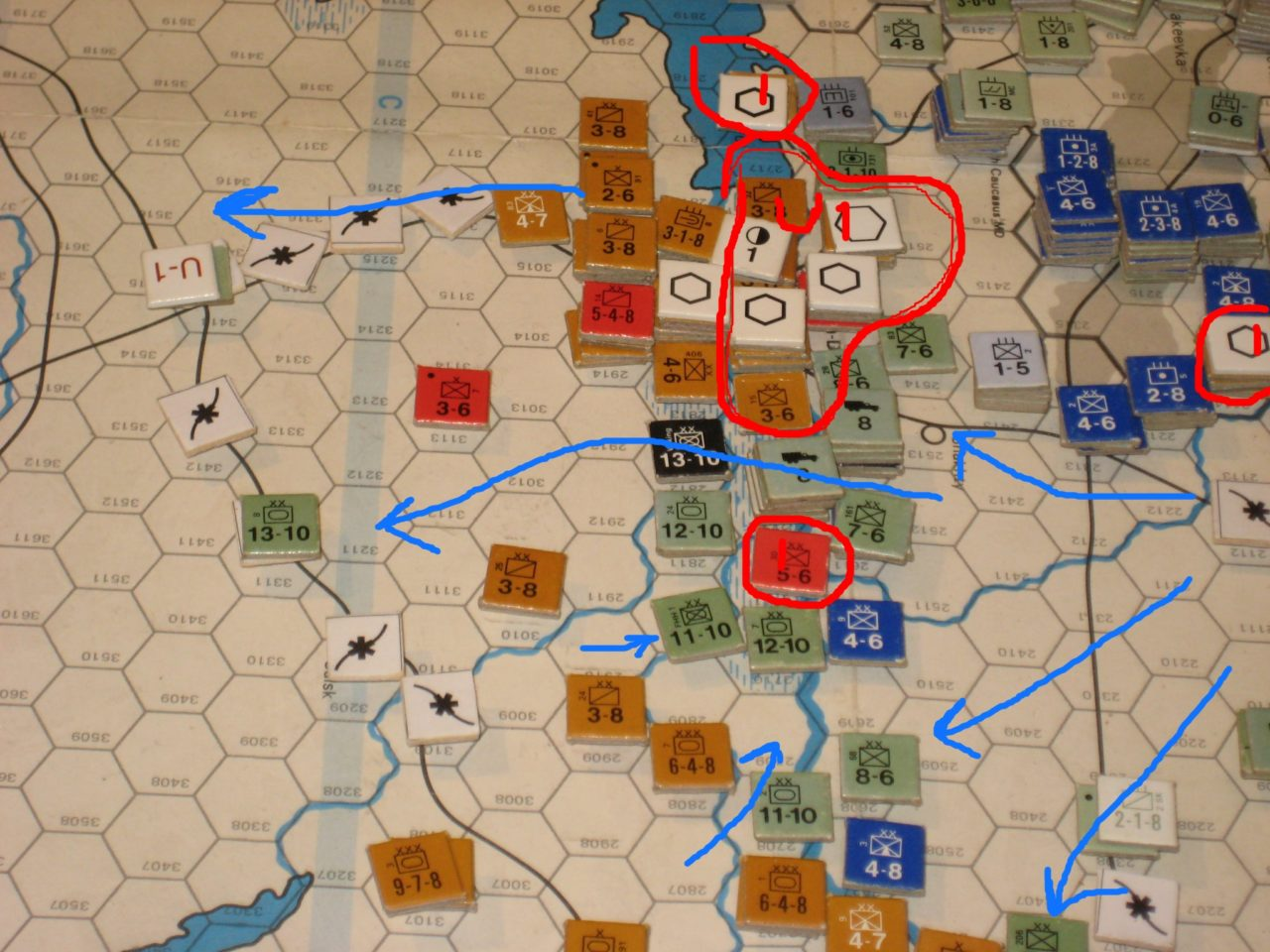 The Axis pushes past Rostov