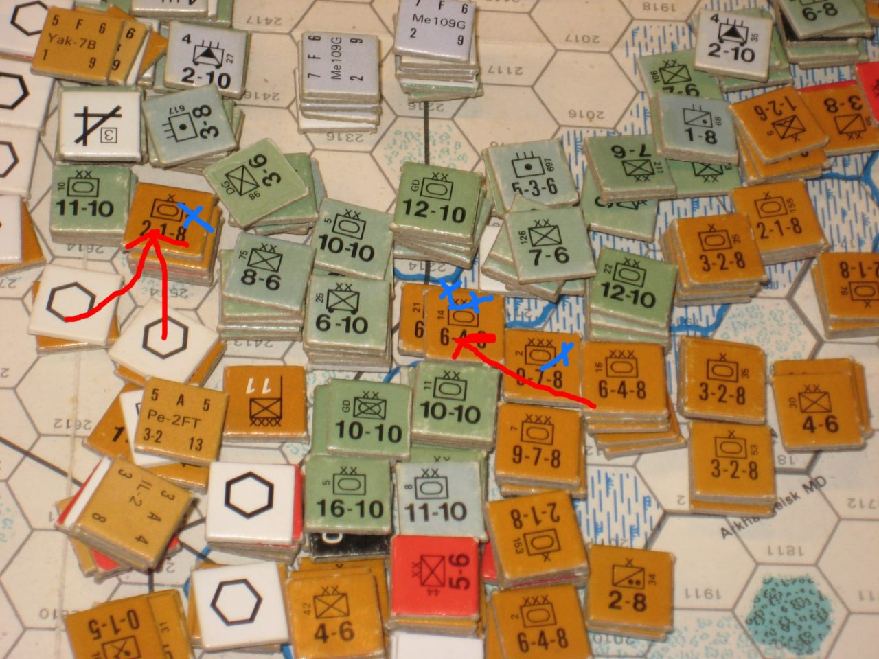 Soviet pinning attack eliminates German Siege Train