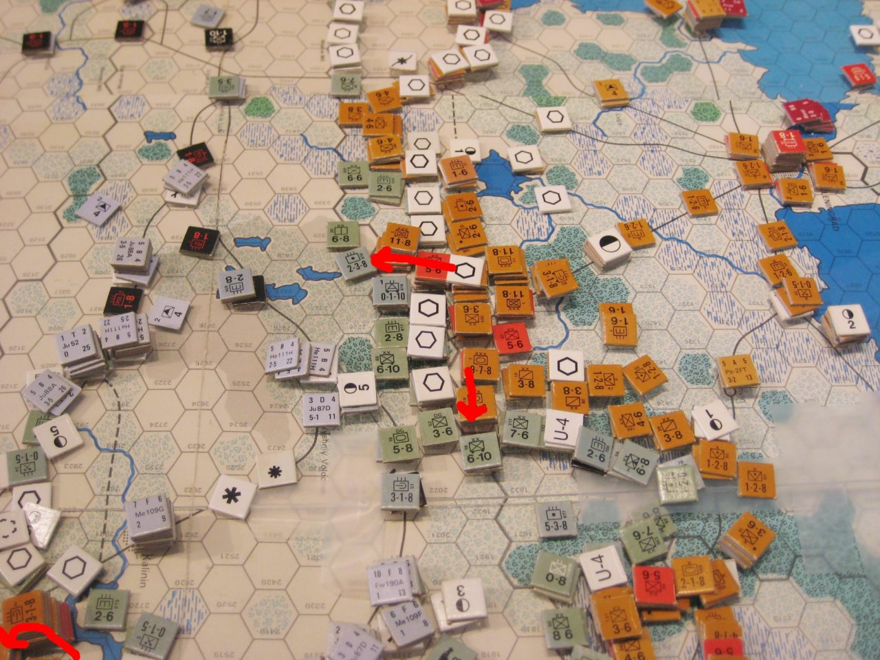 Soviets drive south from Leningrad