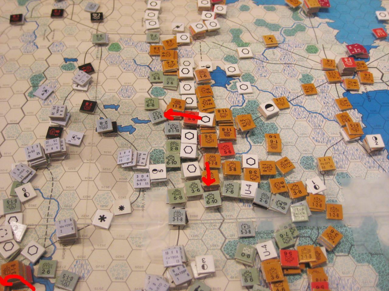 Soviets drive south from Leningrad