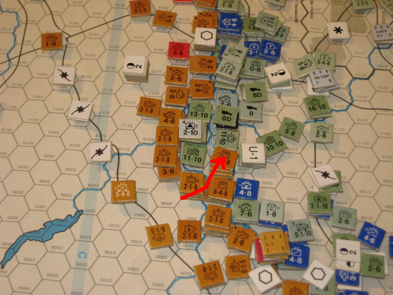Soviet attack south of the Don