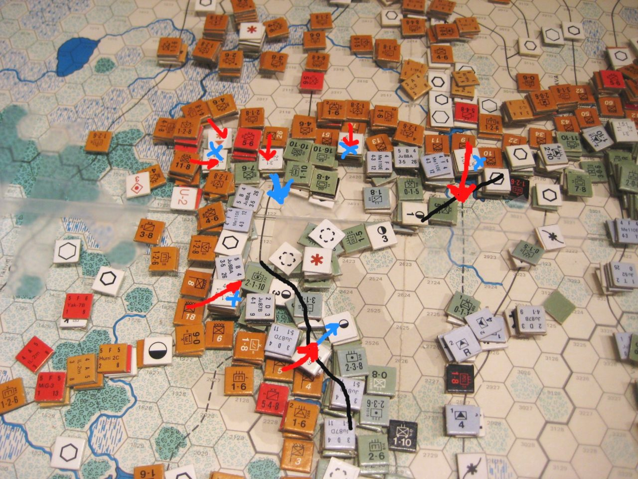 The Axis frontline gets pushed back north of Moscow