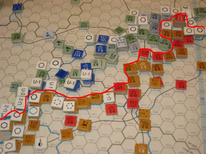 Soviet slowly give groud in the Ukraine to the Axis winter offensive