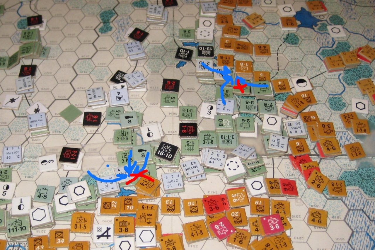 The Axis counteroffensive in the North ends in a bloodbath