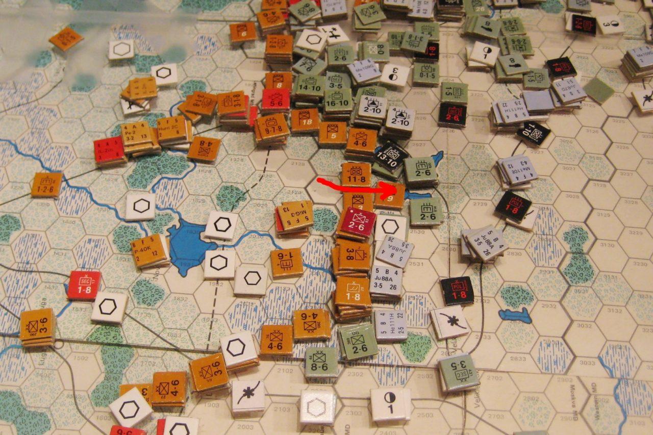 Soviet riposte south of Leningrad, weakened due to the large losses