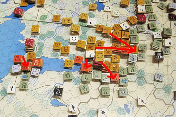 Attacks south of Voronezh