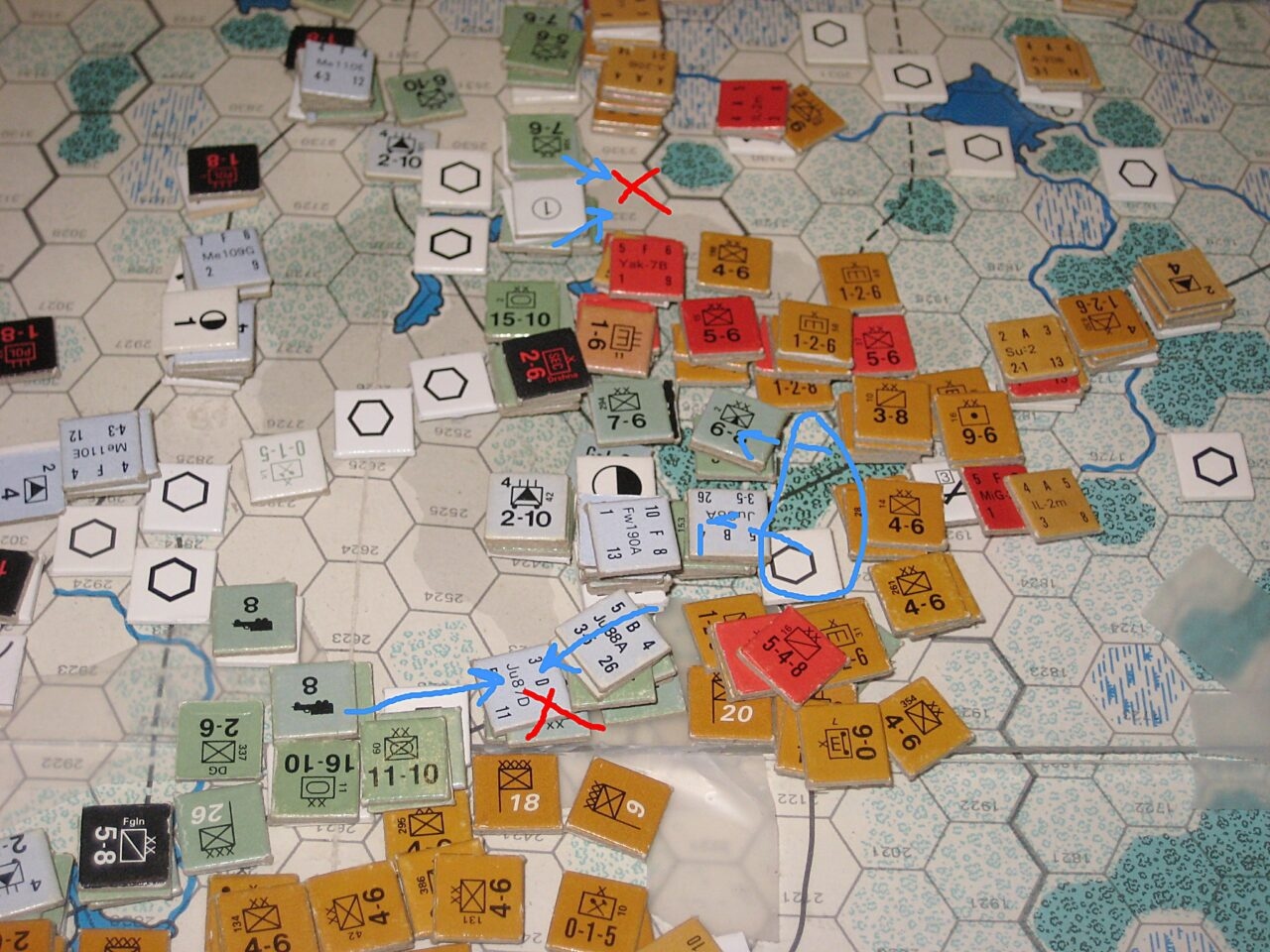 Retreat in the North and counterattacks