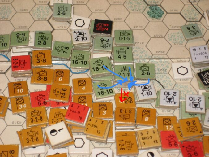 Axis counterattacks south of Moscow