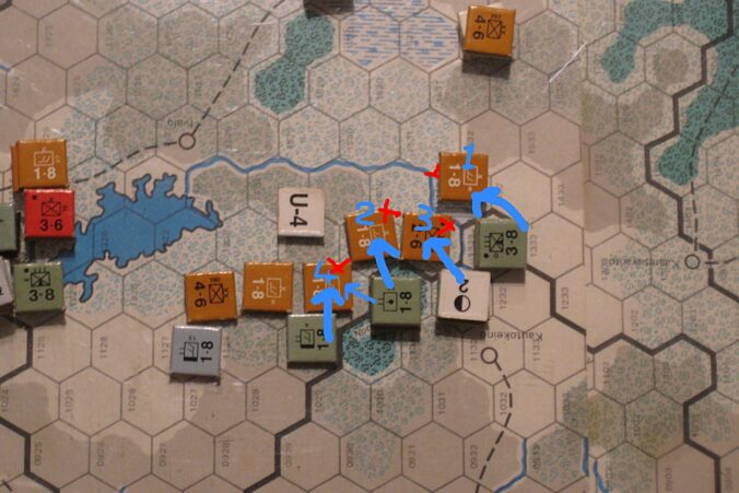 Axis counterattacks in the central Arctic Theater