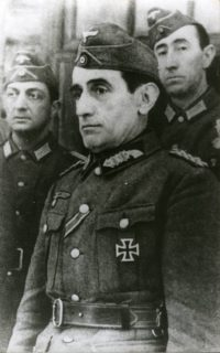 "Spanish general Agustín Muñoz Grandes, commander of the ""Blue Division"", in German uniform"