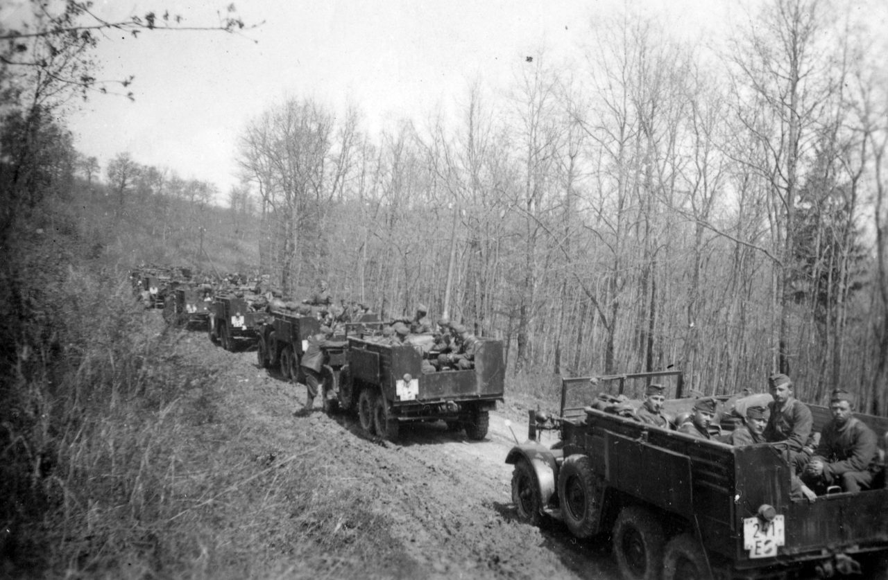 Hungarian Convoy with artillery movers in the Ukraine, 1942, Credit: FORTEPAN / Csorba Dániel
