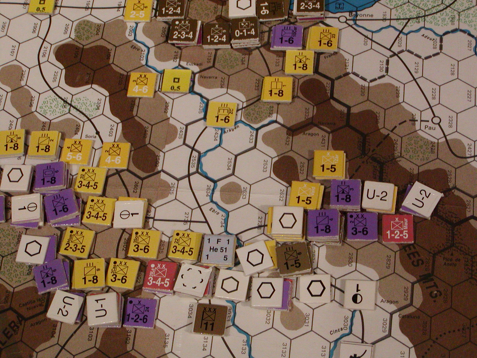 FWtBT No 4, MAR I 37: The Republican right flank pushes on though the Pyrenean foothills.