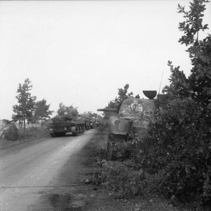 Sherman tanks of the Irish Guards Group, 1944