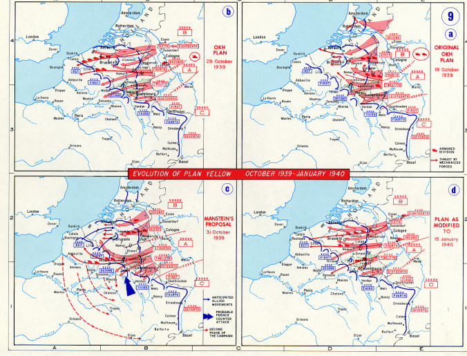 """German Plans for """"Fall Gelb"""" in 1940"""