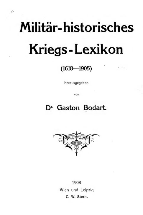 Cover of Bordards Kriegs-Lexikon